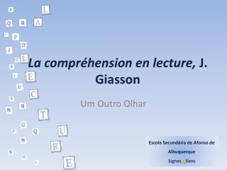 La compr hension en lecture, J. Giasson