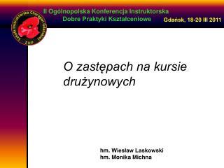 II Ogólnopolska  Konferencja Instruktorska  Dobre Praktyki Kształceniowe