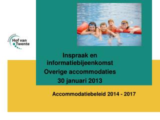 Accommodatiebeleid 2014 - 2017