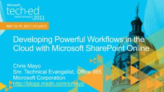 Developing Powerful Workflows in the Cloud with Microsoft SharePoint Online