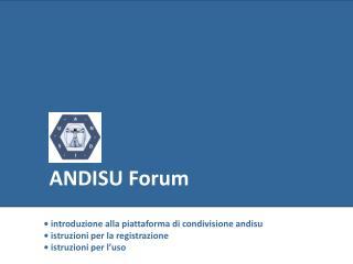 ANDISU Forum