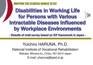 Yuichiro HARUNA, Ph.D. National Institute of Vocational Rehabilitation