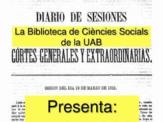 La Biblioteca de Ciències Socials de la UAB