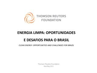 Thomson  Reuters  Foundation Maio/ May  2012