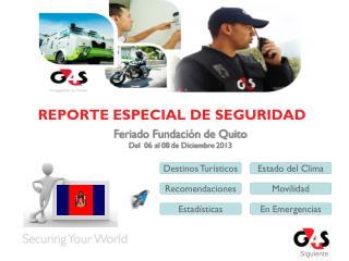 REPORTE ESPECIAL DE SEGURIDAD