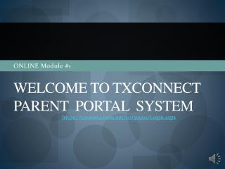 Welcome to txconnect  pARENT   portal  system