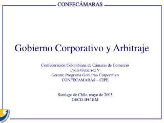 Gobierno Corporativo y Arbitraje