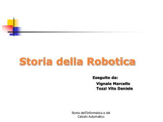 Storia della Robotica