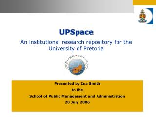 UPSpace An institutional research repository for the University of Pretoria