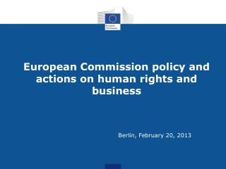 European Commission policy and actions on human rights and business