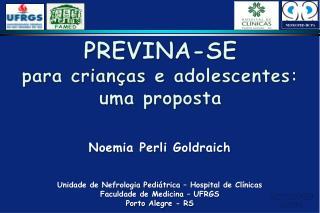 PREVINA-SE para crianças e adolescentes: uma proposta