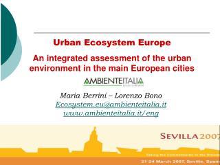 Urban Ecosystem Europe