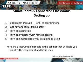 SmartBoard & Connected Classrooms Setting up