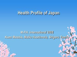 Health Profile of Japan