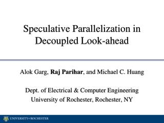 Speculative Parallelization in Decoupled Look-ahead