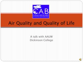 Air Quality and Quality of Life