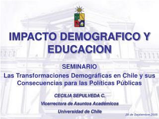 IMPACTO DEMOGRAFICO Y EDUCACION