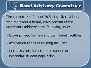Bond Advisory Committee