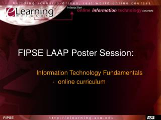 FIPSE LAAP Poster Session: