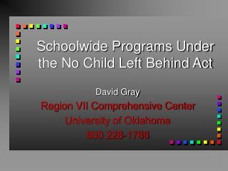 Planning for Comprehensive  School Reform  Improvement through a Needs Assessment Process
