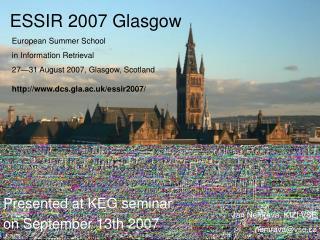 ESSIR  2007  Glasgow