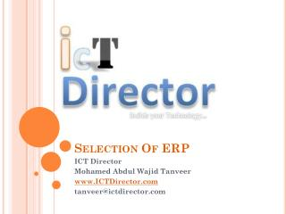 Selection Of ERP