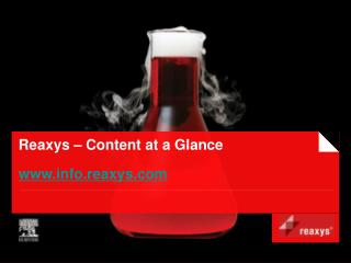 Reaxys – Content at a Glance info.reaxys