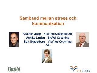Samband mellan stress och kommunikation