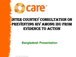 Inter country consultation on preventing HIV among IDU from evidence to action