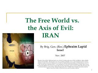 The Free World vs.  the Axis of Evil: IRAN
