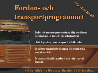 Fordon-  och transportprogrammet