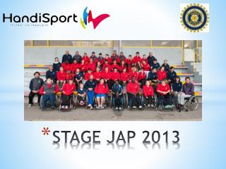 STAGE JAP 2013