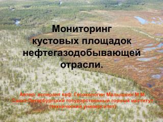 Мониторинг  кустовых площадок нефтегазодобывающей отрасли.