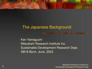 The Japanese Background