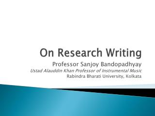 On Research Writing