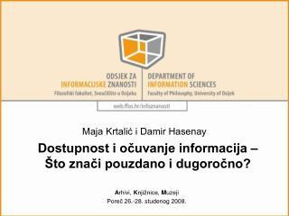 Dostupnost i očuvanje informacija – Što znači pouzdano i dugoročno?