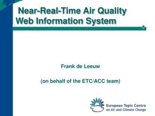 Near-Real-Time Air Quality Web Information System