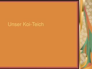 Unser Koi-Teich