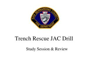 Trench Rescue JAC Drill