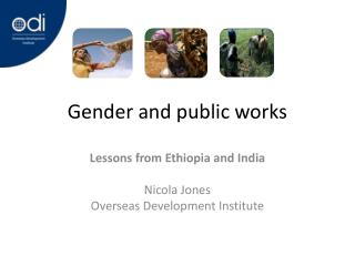 Gender and public works