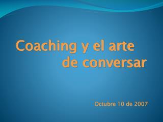 Coaching y el arte