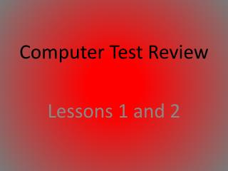Computer Test Review