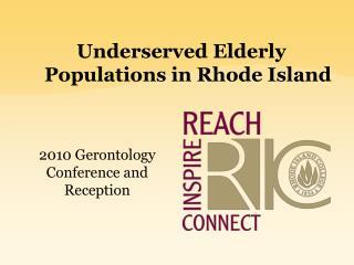Underserved Elderly Populations in Rhode Island
