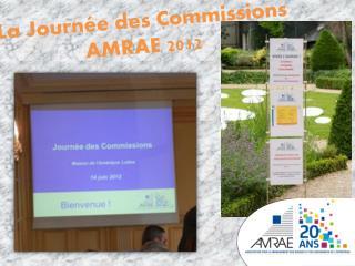 La Journée des Commissions AMRAE 2012