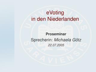 eVoting  in den Niederlanden