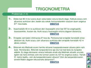 Problemak (1-4)