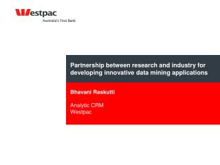 Partnership between research and industry for developing innovative data mining applications