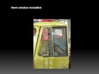 Vent window installed