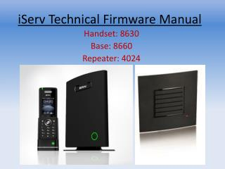 iServ Technical Firmware Manual