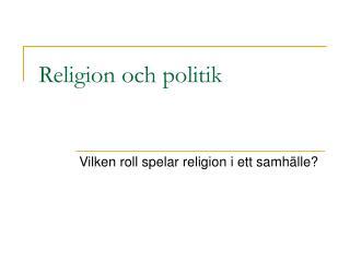 Religion och politik